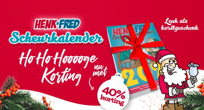 Kerstactie Henk & Fred Scheurkalender